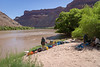 Last day = organizing our gear and waiting for the jet-boat to come down from Moab to pick us up.