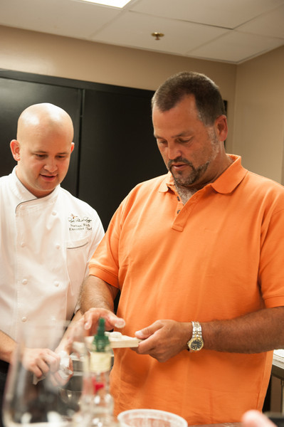 Hank with Nathan, rolling a Gnudi.