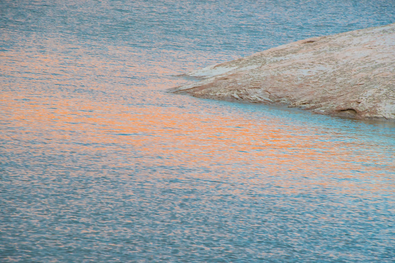 Lake Powell - Orange Reflection with Rock