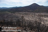 Sugarloaf Peak. The recent burn around highway 89 to the highway 44 junction is evident in this photo. (9/6/2009, Hat Creek Rim Vista Point, near 44/89 junction)