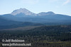 Lassen Peak and Chaos Crags over Hat Creek Valley. (9/6/2009, Hat Creek Rim Vista Point, near 44/89 junction)