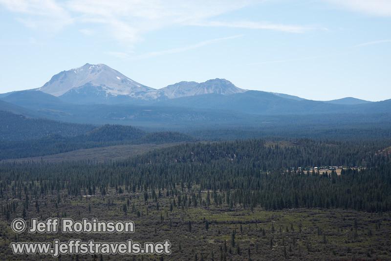 Lassen Peak (left) and Chaos Crags (right) (9/6/2009, Hat Creek Rim Vista Point, near 44/89 junction)