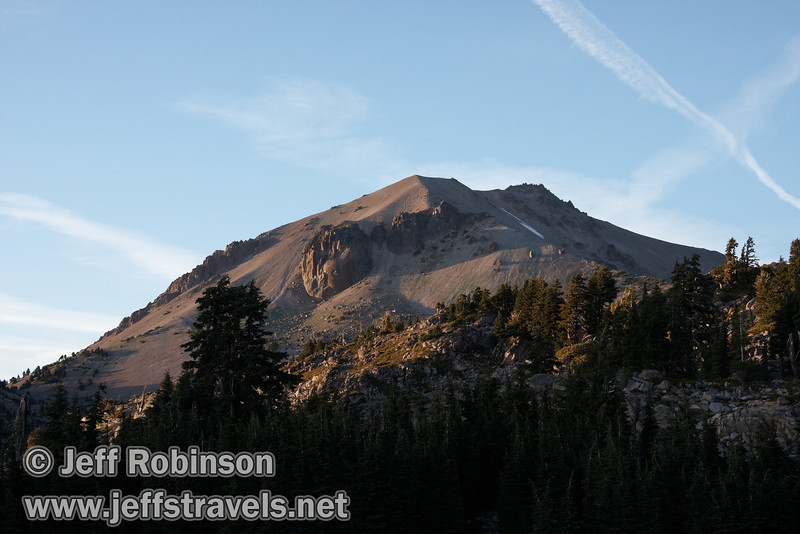 Setting sun on Lassen Peak. (9/7/2009, Bumpass Hell Trail, Lassen NP)
