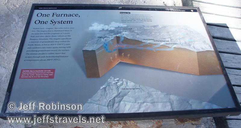 """One Furnace, One System"" sign for Bumpass Hell (9/7/2009, Bumpass Hell Trail, Lassen NP)"