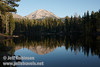 Lassen Peak and its reflection in Reflection Lake (9/8/2009, Reflection Lake, Lassen NP)