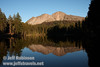 Chaos Crags and its reflection (9/8/2009, Reflection Lake, Lassen NP)