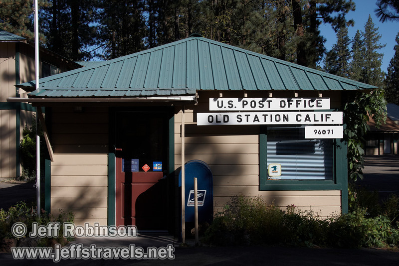 The Old Station Post Office (9/8/2009, Hat Creek Resort & RV Park, Lassen NF)