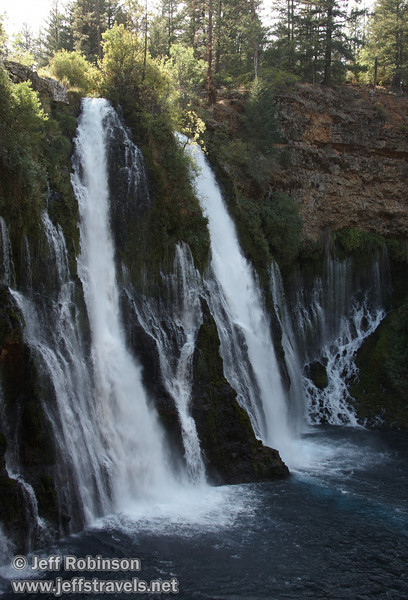 Burney Falls from trail leading down to the base of the falls (9/9/2009, Burney Falls SP)