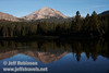Lassen Peak reflected in Manzanita Lake (9/10/2009, Manzanita Lake, Lassen NP)