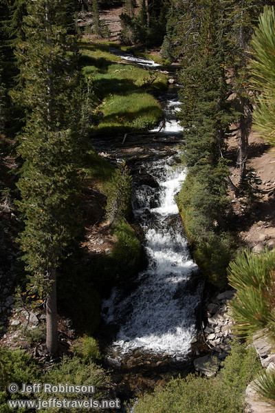 A view up the cascades on Kings Creek, seen from the Cascade view point (9/10/2009, Kings Creek Falls hike, Lassen NP)