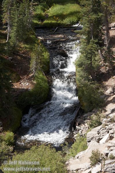 A cascade on Kings Creek, seen from the Cascade view point (9/10/2009, Kings Creek Falls hike, Lassen NP)