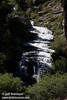 Long, white cascade in the sun (9/10/2009, Kings Creek Falls hike, Lassen NP)