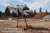 Chicken hawk? made from a VW bug (9/12/2009, sculptures at Packway Materials Inc., 22246 Cassel Rd. Cassel, CA)