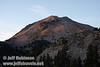 Setting sun on Lassen Peak (9/7/2009, Bumpass Hell Trail, Lassen NP)