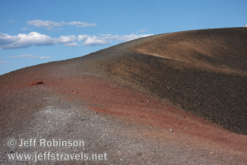 The red rock of the rim trail on Cinder Cone (9/11/2009, Cinder Cone hike, Lassen NP)