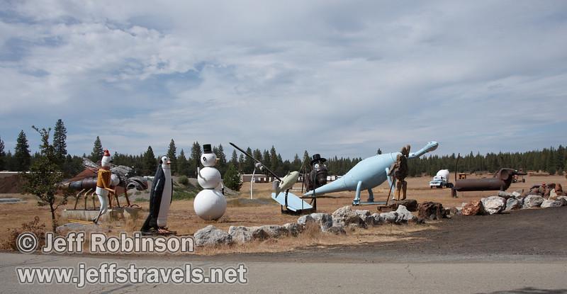 Sculptures (9/12/2009, sculptures at Packway Materials Inc., 22246 Cassel Rd. Cassel, CA)