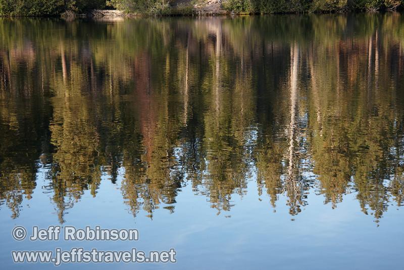 Reflection of trees in Manzanita Lake (9/10/2009, Manzanita Lake, Lassen NP)