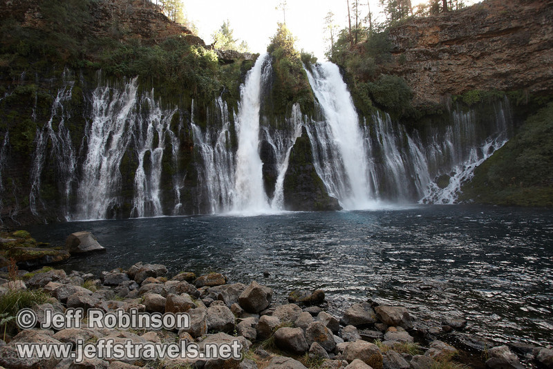 Burney Falls viewed over the pool at the base of the falls (9/9/2009, Burney Falls SP)