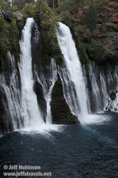 Burney Falls, seen from a tripod shot (often with long exposure) from the trail leading down to the base of the falls (9/9/2009, Burney Falls SP)
