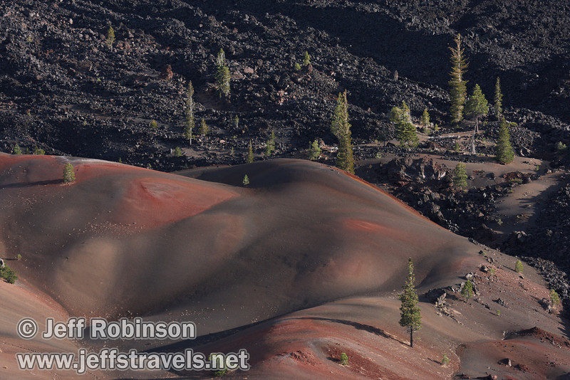 Close up of the Painted Dunes in front of the Fantastic Lava Beds (9/11/2009, Cinder Cone hike, Lassen NP)