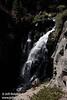 Mostly sunlit Kings Creek Falls. Seen from the railing near the top. (9/10/2009, Kings Creek Falls hike, Lassen NP)