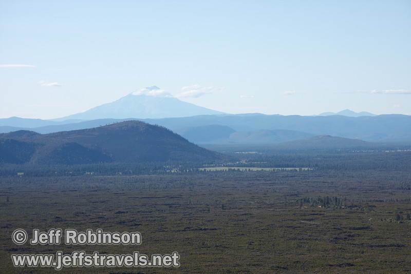 Distant view of Mount Shasta (9/6/2009, Hat Creek Rim hike, Pacific Crest Trail near 44/89 junction)