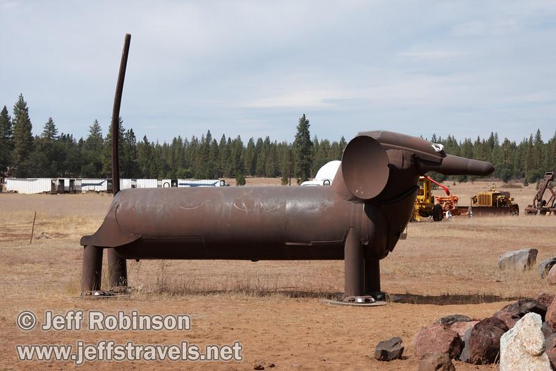 Dachshund (9/12/2009, sculptures at Packway Materials Inc., 22246 Cassel Rd. Cassel, CA)