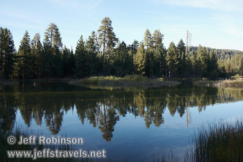 Trees reflected in Manzanita Lake (9/10/2009, Manzanita Lake, Lassen NP)