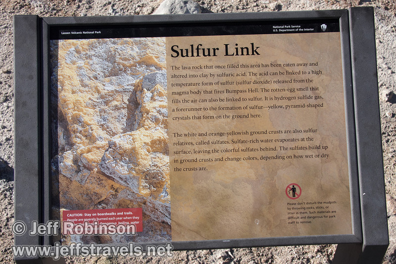 """Sulfur Link"" sign for Bumpass Hell (9/7/2009, Bumpass Hell Trail, Lassen NP)"