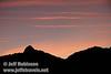 Sunset colors against a mountain profile (9/7/2009, Bumpass Hell Trail, Lassen NP)