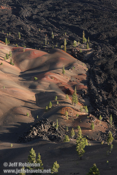 Close up of the Painted Dunes next to the Fantastic Lava Beds (9/11/2009, Cinder Cone hike, Lassen NP)