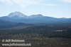 Lassen Peak (left) and Chaos Crags (right) (9/6/2009, Hat Creek Rim Vista Point, near 44/89 junction)