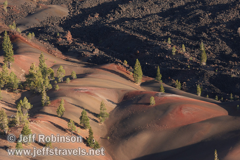 Close up of the Painted Dunes by the Fantastic Lava Beds (9/11/2009, Cinder Cone hike, Lassen NP)
