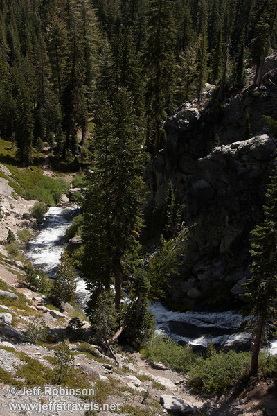A view down the cascades on Kings Creek, seen from the Cascade view point (9/10/2009, Kings Creek Falls hike, Lassen NP)