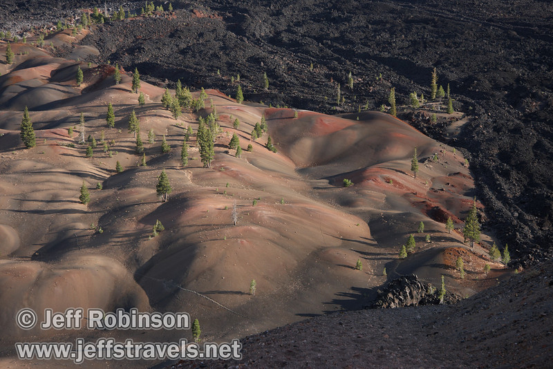 The Painted Dunes in front of the Fantastic Lava Beds (9/11/2009, Cinder Cone hike, Lassen NP)