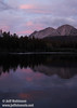 Chaos Crags reflected in Manzanita Lake, with a hint of pink sunset colors above (9/5/2009)