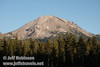 Lassen Peak over a tree line (9/8/2009, Reflection Lake, Lassen NP)