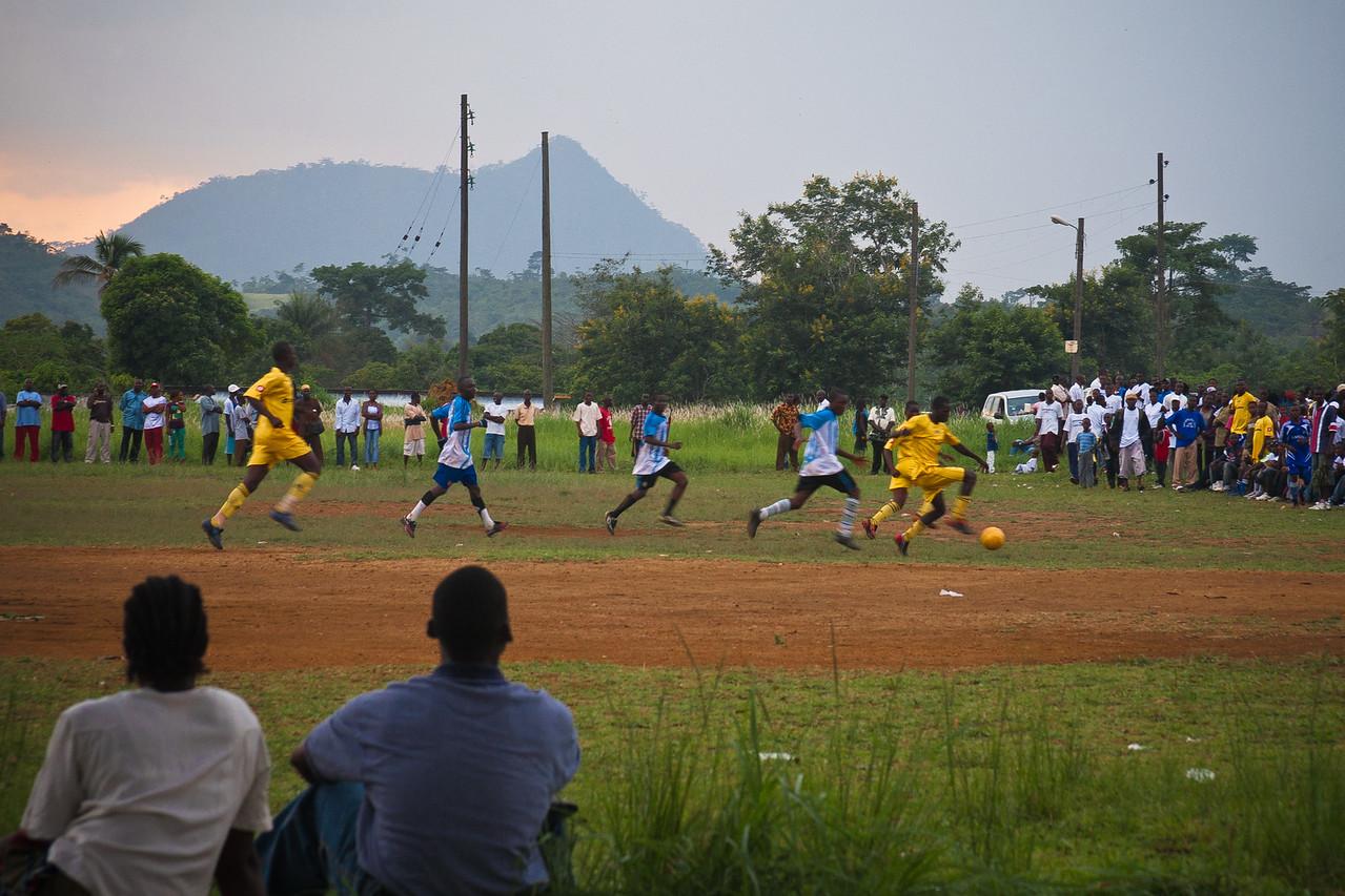 Local Football Game in Yekepa