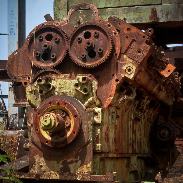 Rusted Engine Block