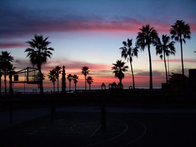 Venice Beach At Dusk