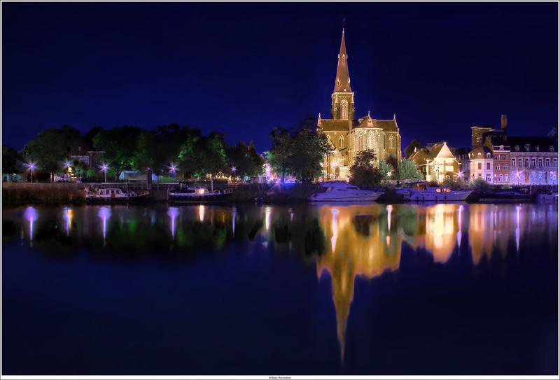 View on St.Martinus church, Maastricht