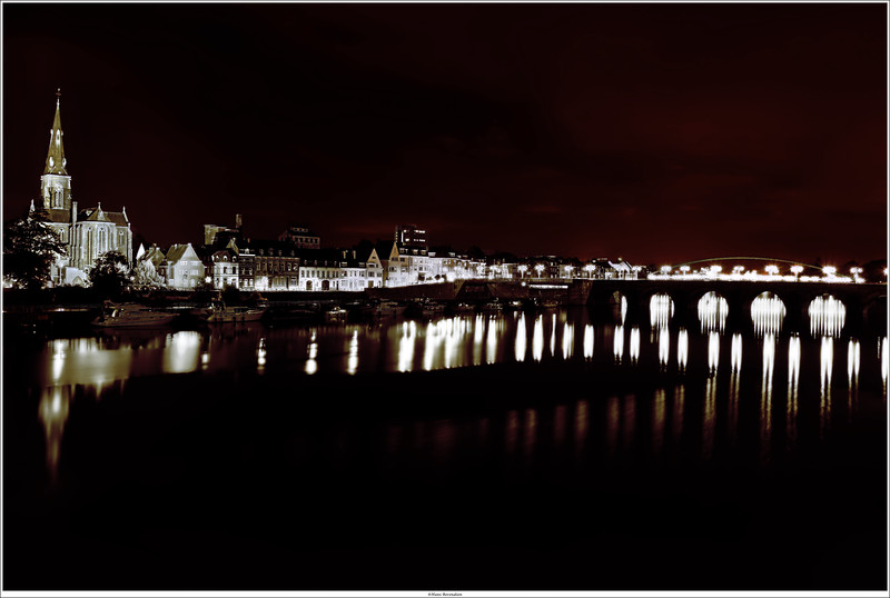 Nightview on the St.Servaasbridge, Maastricht