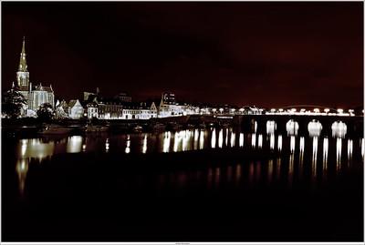 Nightview on the St.Servaasbridge, Maastricht