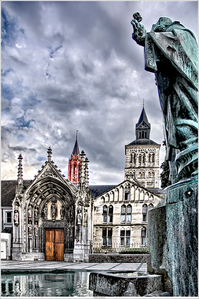 At the entrance of the Basilica of Saint Servatius, Maastricht NL