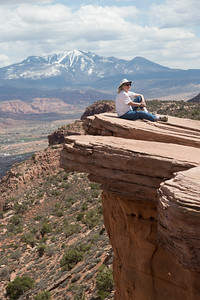 Lunch spot at the end of the Moab Rim Trail