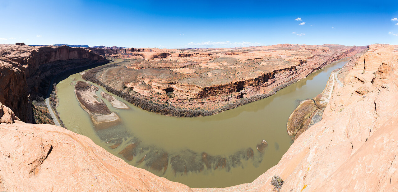 Colorado RIver from the overlook at the end of Hell's Revenge Trail