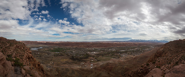 Moab from the first Moab Rim overlook