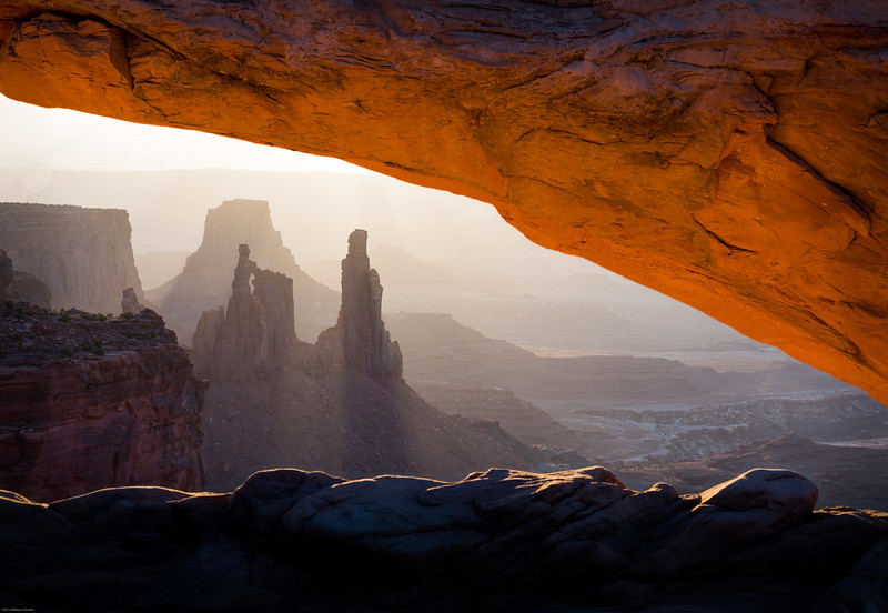 Washer Woman Arch and Monster Tower  from Mesa Arch