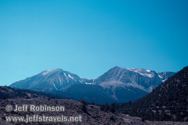 Mountains. Seen from Mono Lake vista point near Lee Vining (Mono Lake 2002)