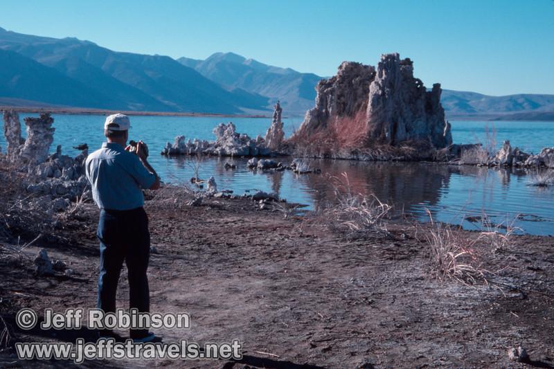 Dad taking video at South Tufa. (South Tufa, Mono Lake 2002)
